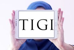 Logotipo de la compañía de TIGI imágenes de archivo libres de regalías