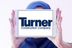 Logotipo de la compañía de Turner Construction imagen de archivo libre de regalías