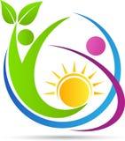 Logotipo de la comunidad de la gente Fotos de archivo