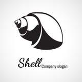 Logotipo de la concha marina Fotografía de archivo