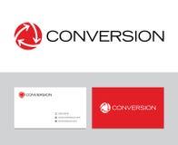 Logotipo de la conversión stock de ilustración