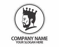 Logotipo de la corona de la cabeza del rey Imagenes de archivo