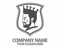 Logotipo de la corona de la cabeza del rey Imagen de archivo
