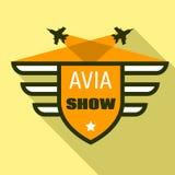 Logotipo de la demostración de Avia, estilo plano libre illustration