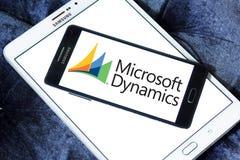 Logotipo de la dinámica de Microsoft fotos de archivo