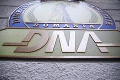 Logotipo de la dirección anticorrupción nacional rumana foto de archivo libre de regalías