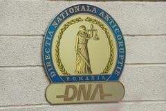 Logotipo de la DNA fotografía de archivo