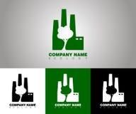 Logotipo de la ecología del vector con diversas opciones del fondo libre illustration