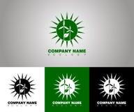 Logotipo de la ecología del vector con diversas opciones del fondo stock de ilustración