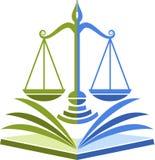 Logotipo de la educación de la ley Fotografía de archivo