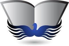 Logotipo de la educación del pájaro Foto de archivo libre de regalías