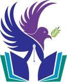 Logotipo de la educación de la libertad stock de ilustración
