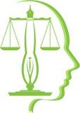 Logotipo de la educación de la ley Foto de archivo