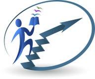 Logotipo de la educación del objetivo Foto de archivo libre de regalías