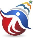 Logotipo de la educación del objetivo Imagen de archivo libre de regalías