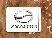 Logotipo de la empresa de automóviles de ZX imagenes de archivo