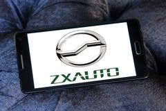 Logotipo de la empresa de automóviles de ZX fotos de archivo