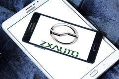 Logotipo de la empresa de automóviles de ZX fotografía de archivo