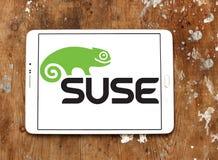 Logotipo de la empresa de informática de SUSE imagenes de archivo