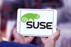Logotipo de la empresa de informática de SUSE fotos de archivo