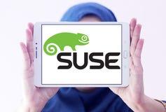 Logotipo de la empresa de informática de SUSE imagen de archivo libre de regalías