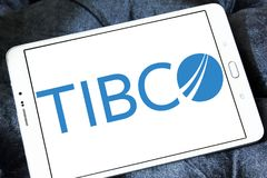 Logotipo de la empresa de informática de TIBCO Fotografía de archivo