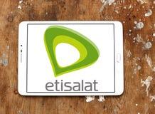 Logotipo de la empresa de telecomunicaciones de Etisalat Imágenes de archivo libres de regalías