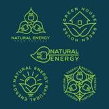 Logotipo de la energía natural Foto de archivo libre de regalías