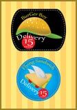 Logotipo de la entrega de los alimentos de preparación rápida imagen de archivo libre de regalías