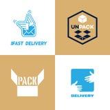 Logotipo de la entrega y del paquete Fotos de archivo libres de regalías
