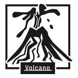 Logotipo de la erupción del volcán de la colina, estilo simple ilustración del vector