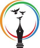 Logotipo de la escritura de la mosca Fotografía de archivo libre de regalías