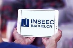 Logotipo de la Escuela de Negocios de INSEEC Foto de archivo libre de regalías