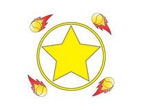 Logotipo de la estrella Imagenes de archivo