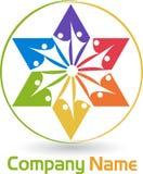 Logotipo de la estrella de los pares Fotografía de archivo libre de regalías