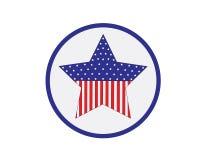 Logotipo de la estrella del americano Imágenes de archivo libres de regalías