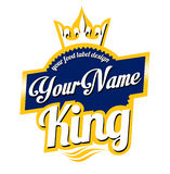 Logotipo de la etiqueta de la comida Fotografía de archivo libre de regalías