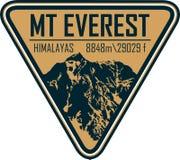 Logotipo de la etiqueta de la montaña de Ector Everest stock de ilustración