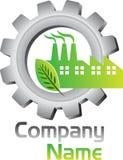 Logotipo de la fábrica de Eco stock de ilustración