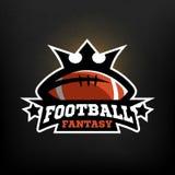 Logotipo de la fantasía del fútbol americano Fotos de archivo