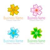 Logotipo de la flor Imágenes de archivo libres de regalías