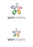 Logotipo de la flor de la joya Fotos de archivo