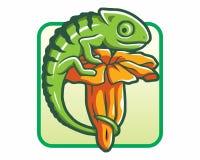 Logotipo de la flor del camaleón Fotos de archivo libres de regalías
