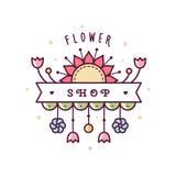 Logotipo de la floristería Ilustración del vector Imagen de archivo
