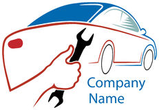 Logotipo de la gasolinera stock de ilustración