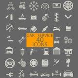 Logotipo de la gasolinera del coche, icono, muestra, símbolo en estilo plano Fotos de archivo