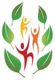Logotipo de la gente de la naturaleza de la diversión Imagen de archivo libre de regalías