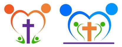 Logotipo de la gente de la religión Imagen de archivo libre de regalías