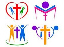 Logotipo de la gente de la religión ilustración del vector