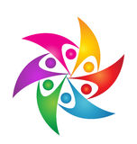 Logotipo de la gente de la reunión del trabajo en equipo Imagenes de archivo